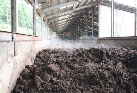 甲州ワインビーフ 小林牧場 堆肥センター